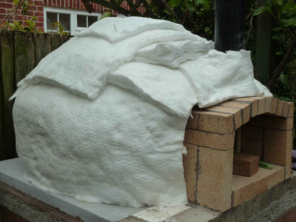 Insulating your pizza oven with Ceramic Fibre Blanket